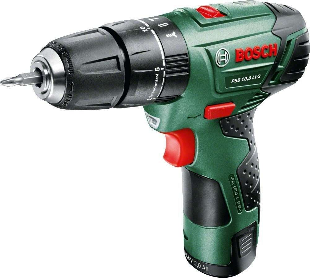 Bosch PSB 10.8 LI-2 Cordless Lithium-Ion Hammer Drill Driver Featuring Syneon Chip