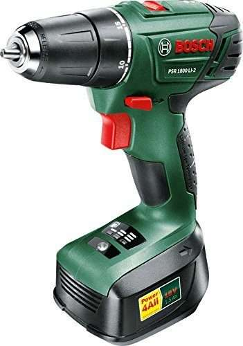 Bosch PSR 1800 LI-2 Cordless Lithium-Ion Drill Driver Featuring Syneon Chip