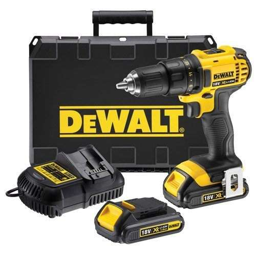 DeWalt 18V XR Lithium-Ion Cordless 2-Speed Drill Driver with Batteries