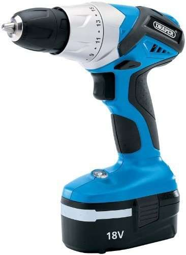 Draper 28158 18V Cordless Rotary Drill with Ni-CD Battery