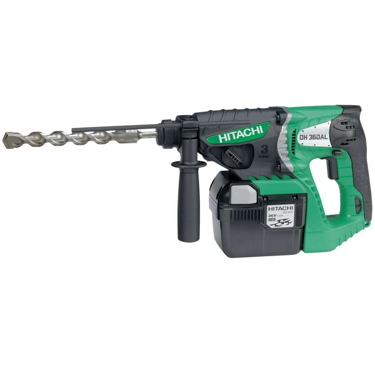 Hitachi DH36DAL 36V SDS-Plus Rotary Hammer Drill 3 Mode 2 x 2.6Ah Lithium-Ion batteries