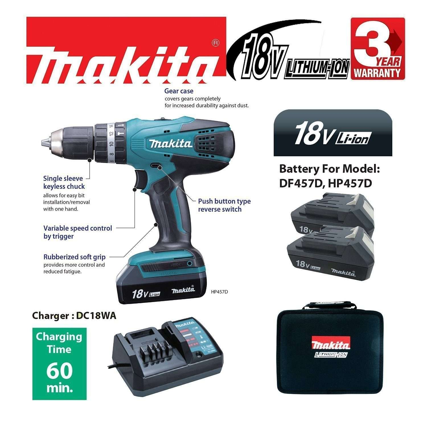 best makita cordless drill drivers reviews uk 2018 top 10 reviewed. Black Bedroom Furniture Sets. Home Design Ideas