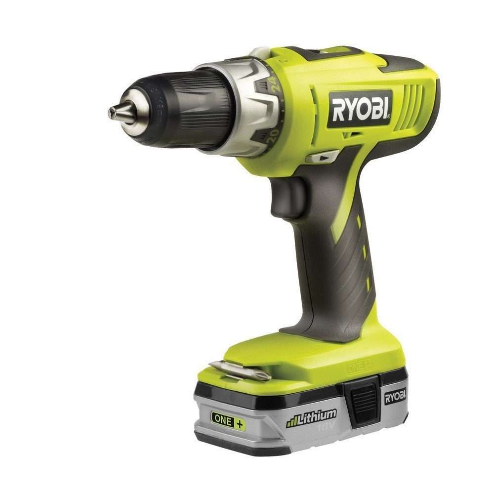 Ryobi LLCDI1802-L13G 18V One Plus 2-Speed Hammer Drill-Driver with 1 x 1.3Ah Lithium Battery and Charger
