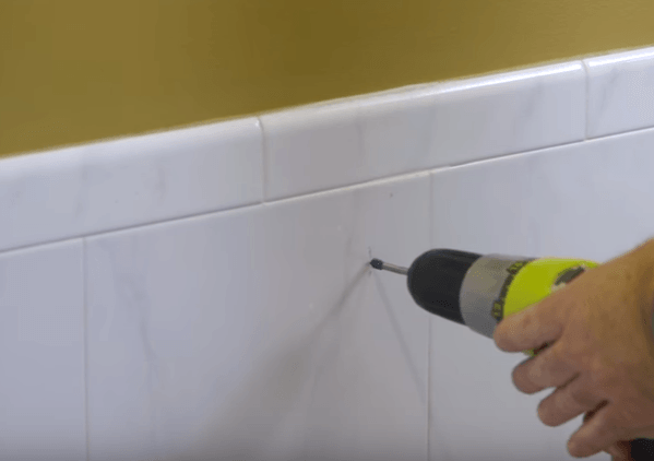 Drilling through ceramic tile